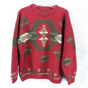 Vintage Eddie Bauer Southwest Sweater Large Petite